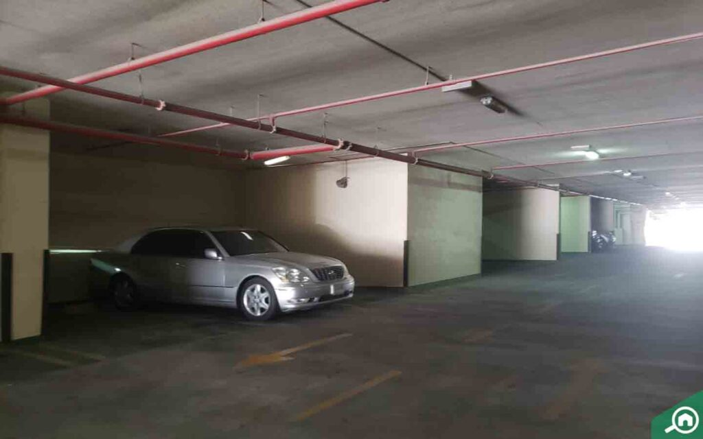 covered parking in City Tower Ajman