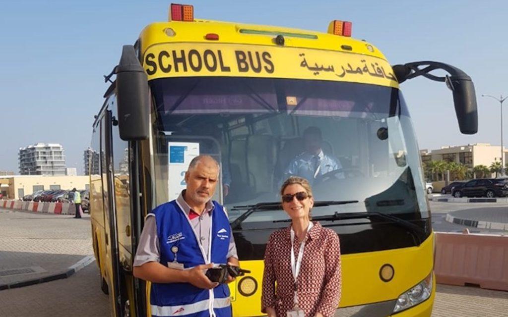 School transport at Jebel Ali School