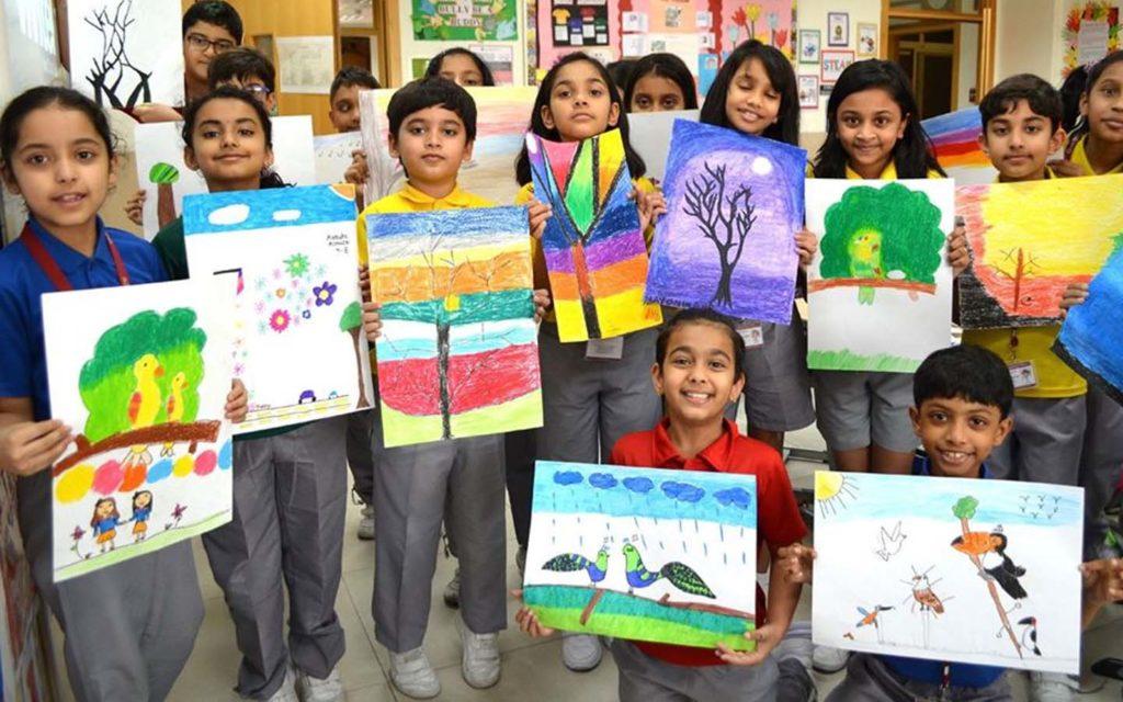 Painting work at Springdales School Dubai