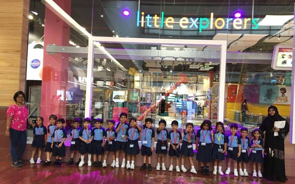Students of JSS International School on a field trip