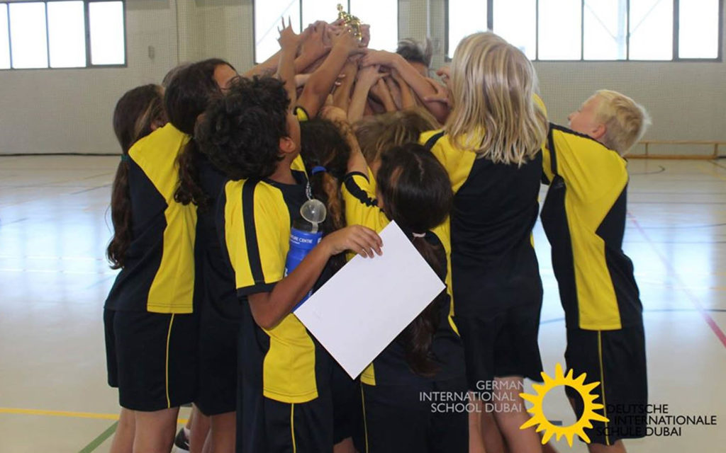 Students participating in Sports day at German International School