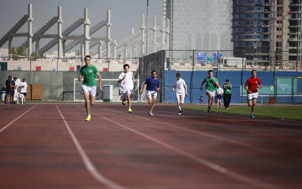 Sports facility at JESS, Arabian Ranches