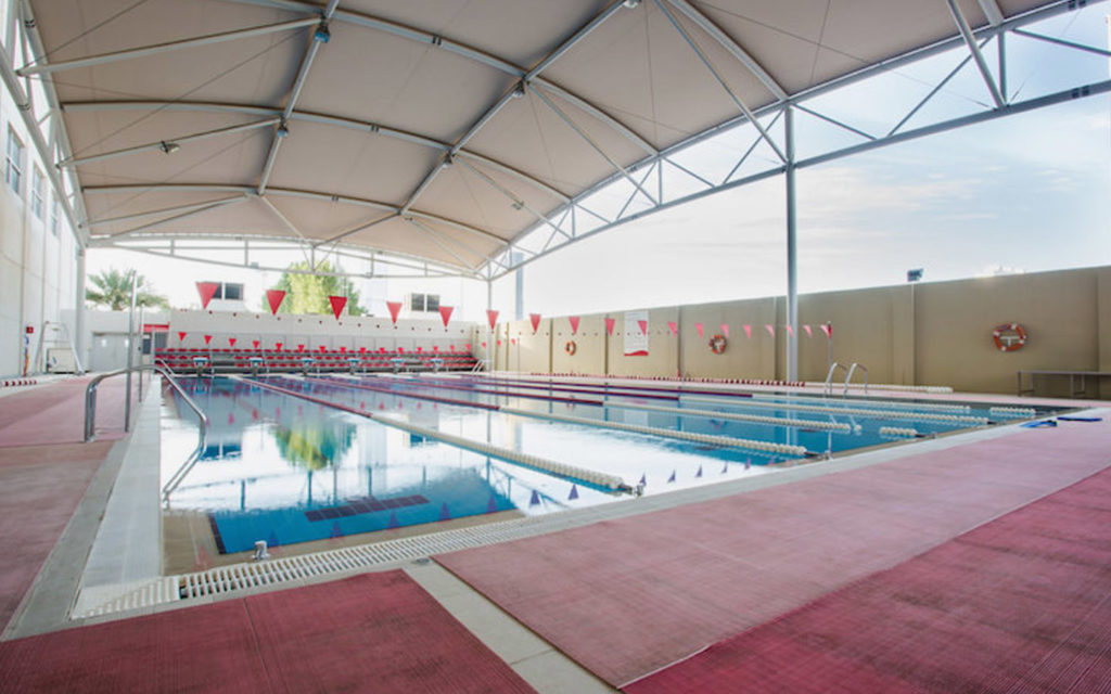 25-metre swimming pool at American School of Dubai