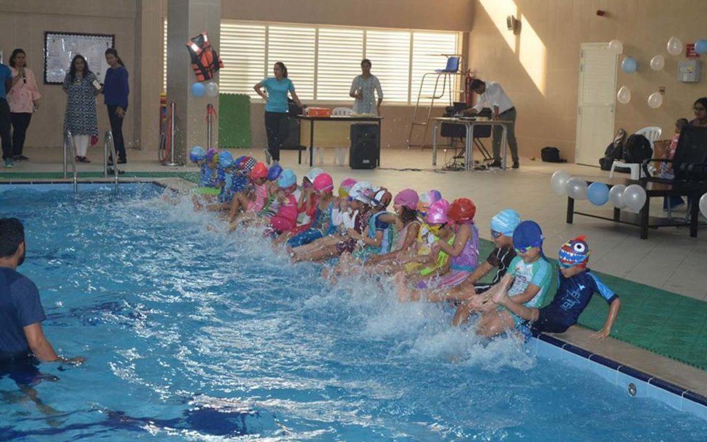 Swimming pool at JSS International School