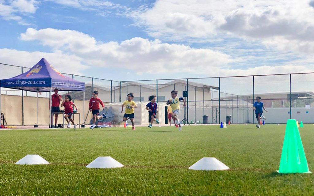 Astroturf pitch at Kings' School Nad Al Sheba