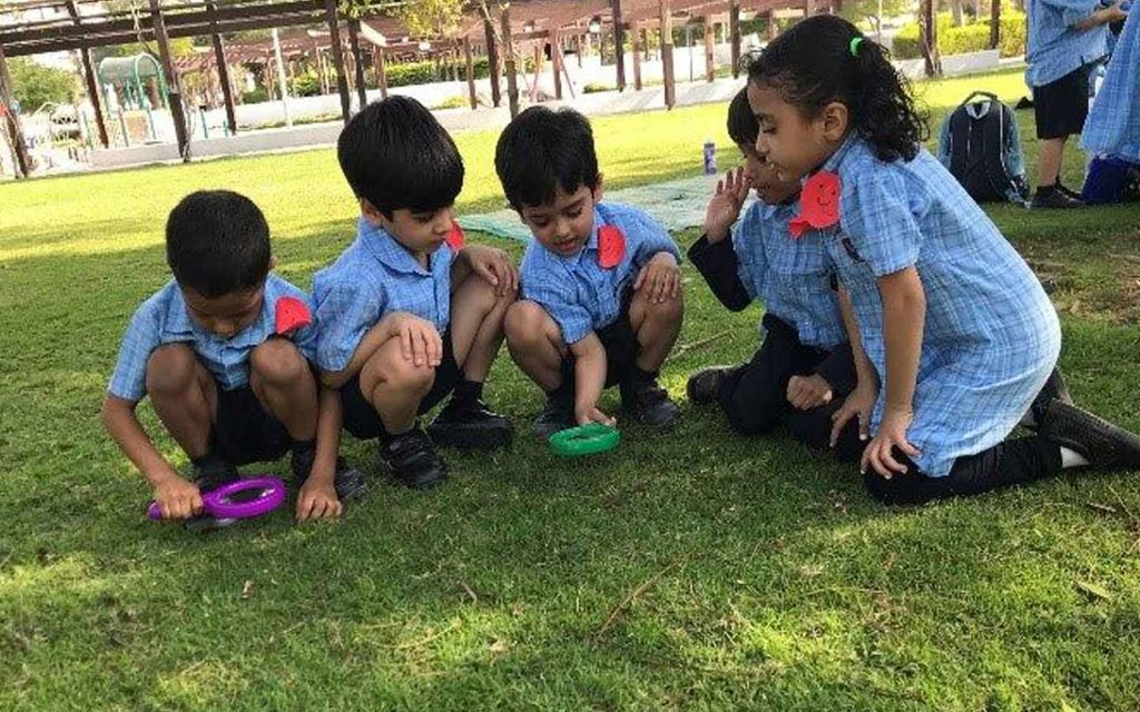 The Westminster School's Students of infant stage engaged in curricular activities