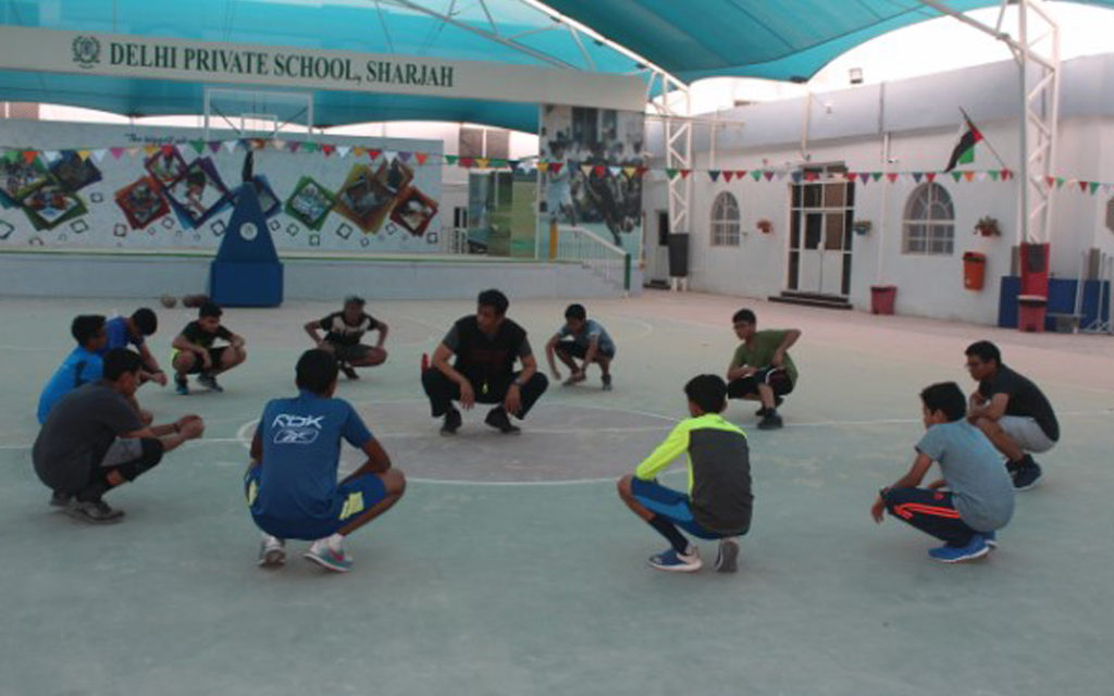 Students of DPS Sharjah participate in various sports and physical activities organized by the school