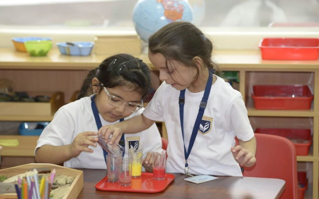Students of GEMS Modern Academy learning through experimentation