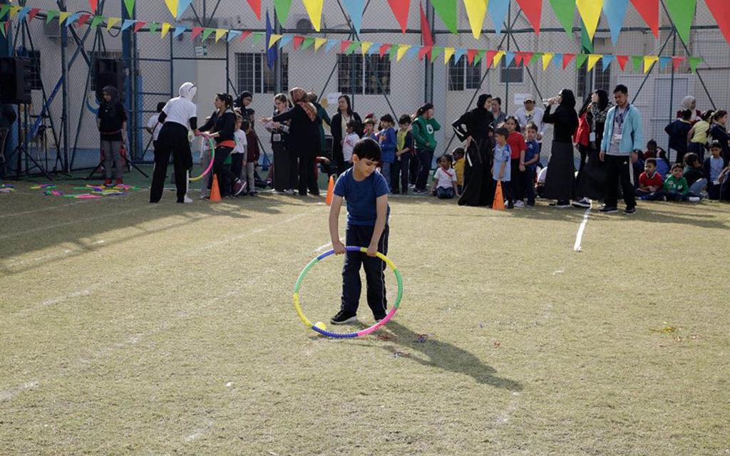 فعالية رياضية في مدرسة عجمان الحديثة