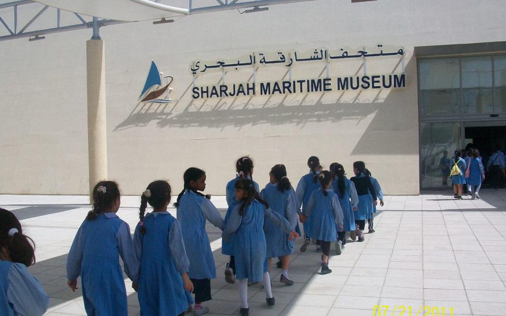 زيارة طالبات إلى متحف الشارقة البحري