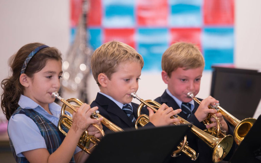 Students learn to play instruments at Cranleigh Abu Dhabi
