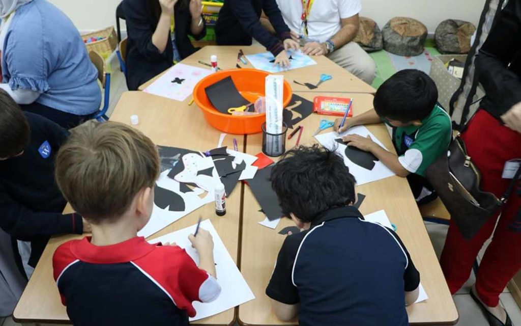 Students of GEMS Wellington International School engaged in co-curricular activities