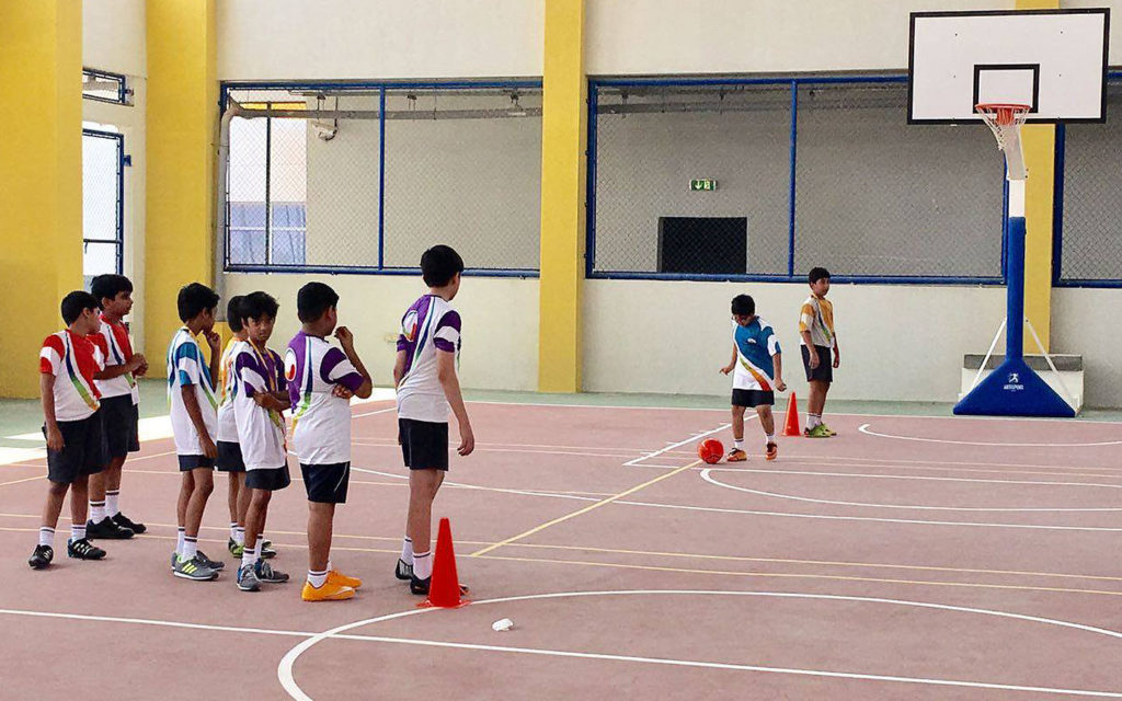 Basketball court at Global Indian International School
