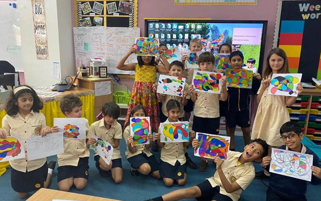 painting as extra-curricular activity at  Horizon English School