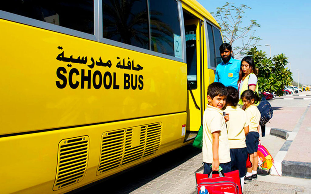 School transport facility at Horizon English School