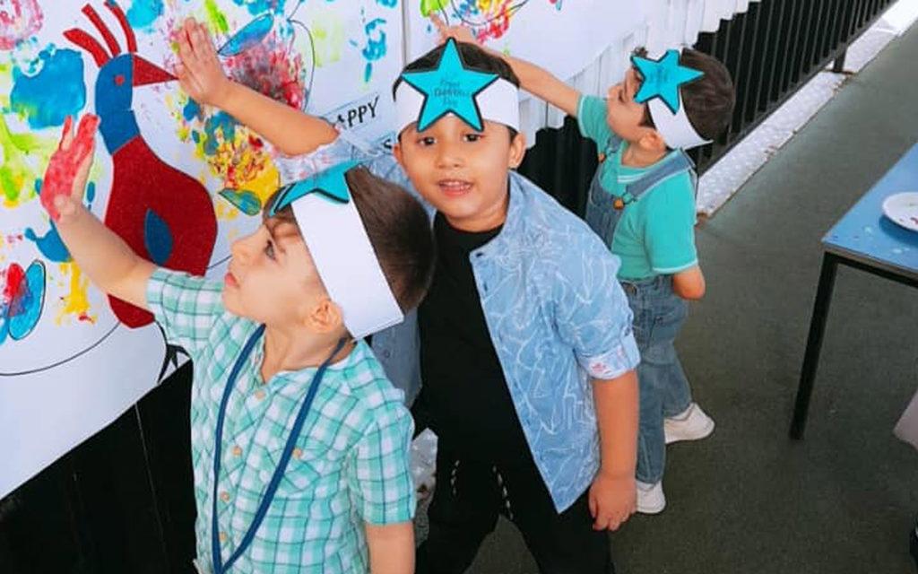 Students at Sharjah Public School