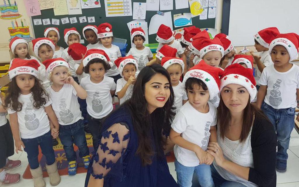 Nursery students at LFIGP Oud Metha