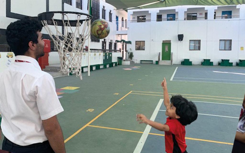 Basketball court at Dubai Gem Private School