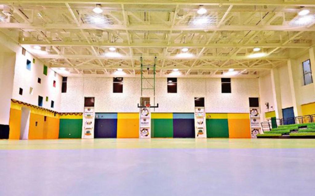 صالة رياضية في مدرسة المهارات الخاصة