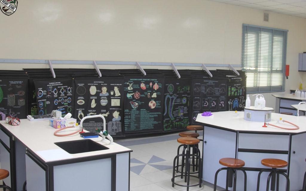 مختبر العلوم في مدرسة الوردية الخاصة مويلح