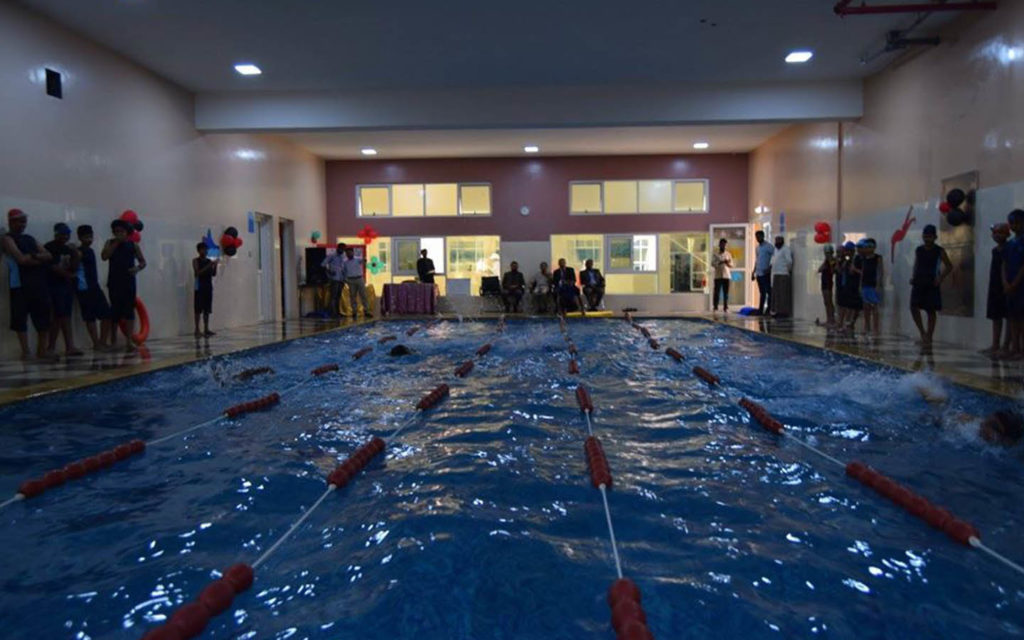 Swimming pool at the campus of PACE International School Sharjah