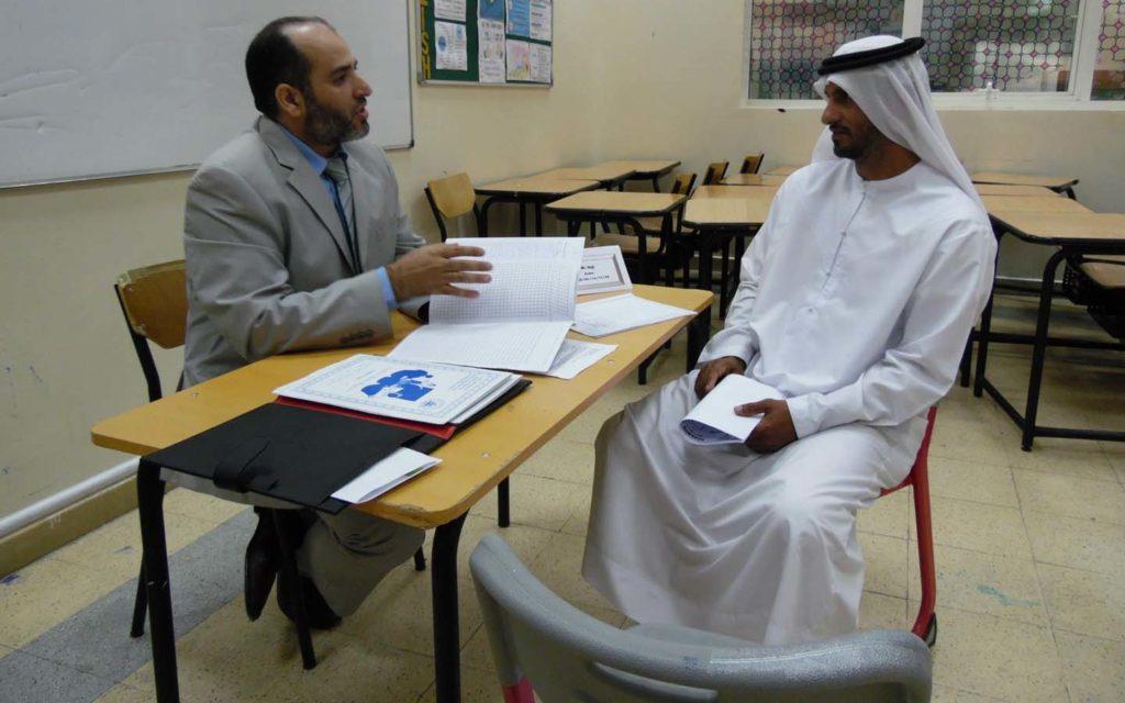 parents-teacher meeting at Al Zuhour Private School