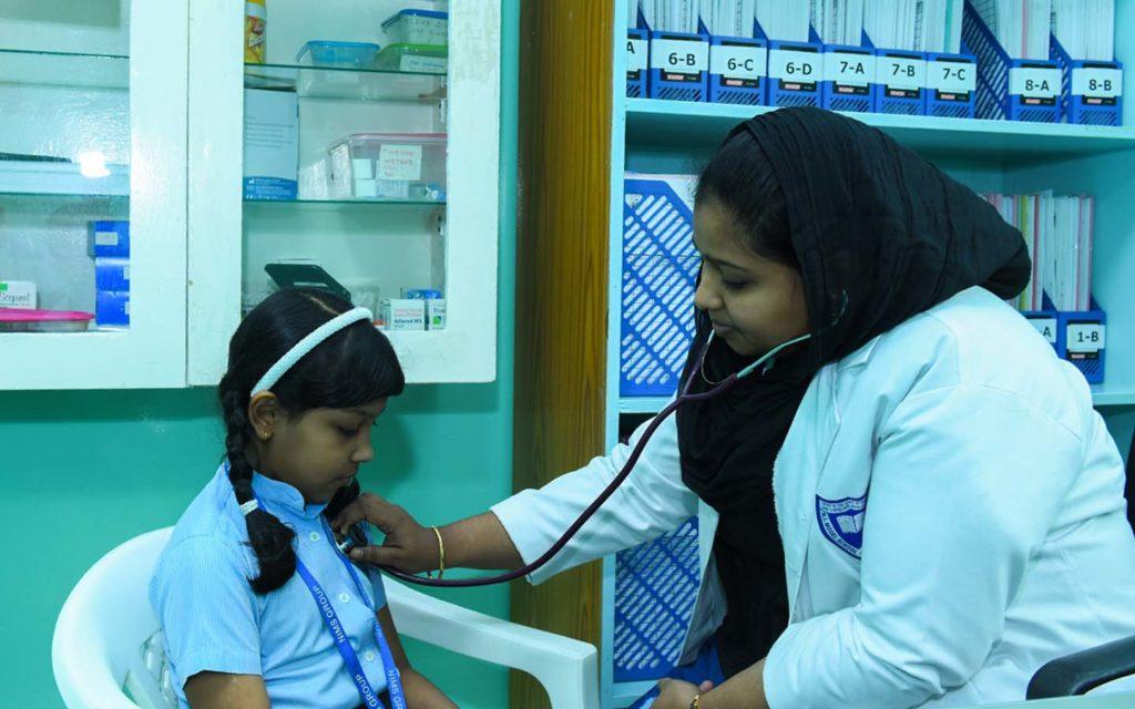 Medical facilities at New Indian Model School Sharjah