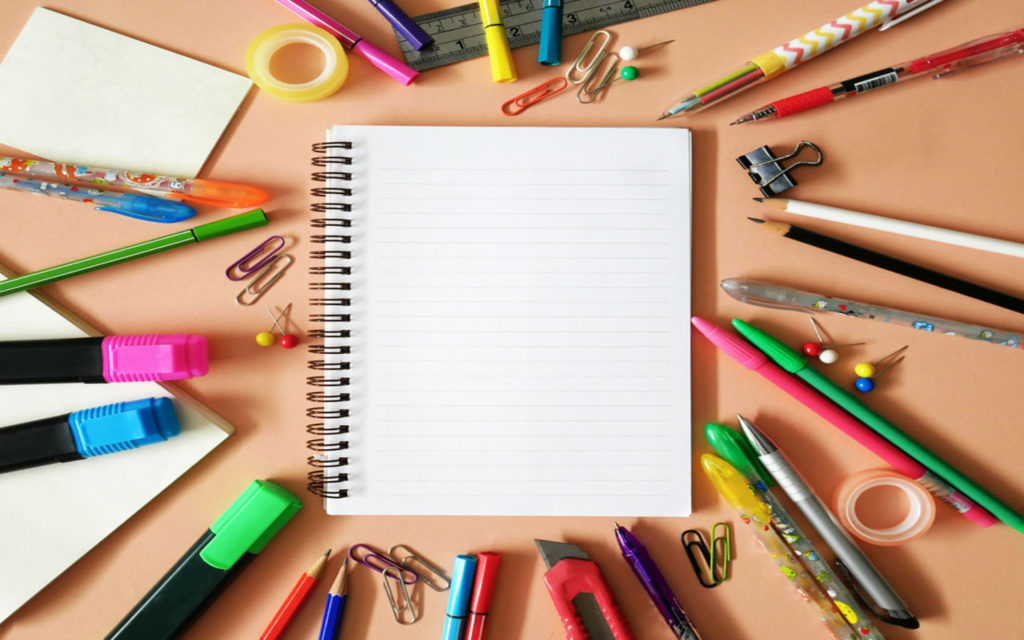 books and stationary for school