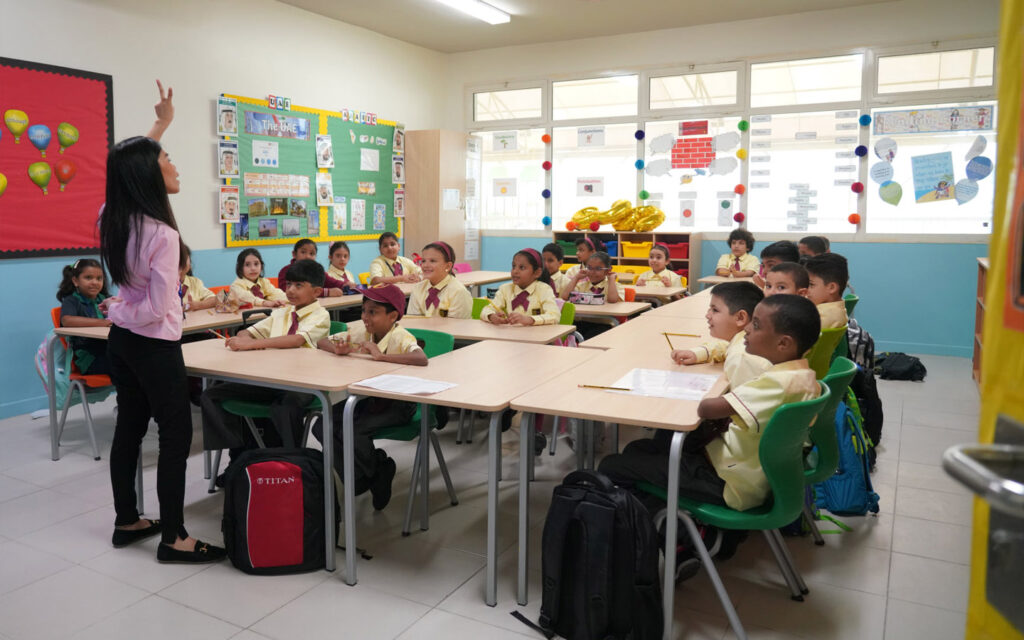students in class at Gems Cambridge International Private School