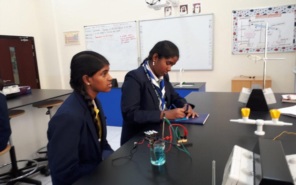 Lab activity at Ryan International School Sharjah