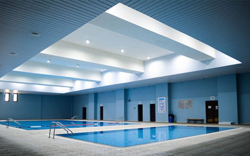 Swimming pools as sports facility at Emirates American School