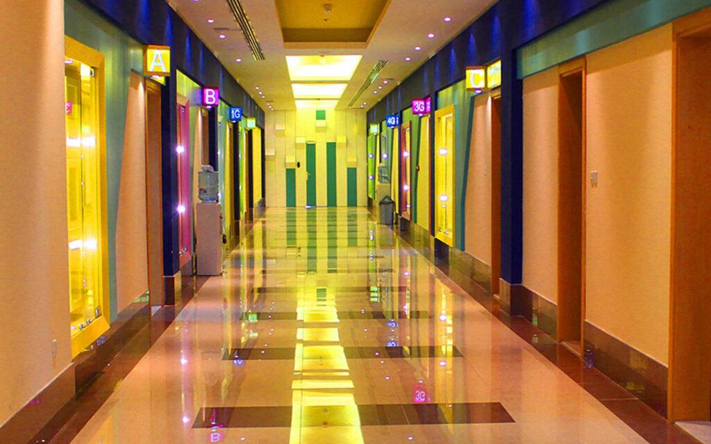 Corridors of Al Resala American International School Sharjah