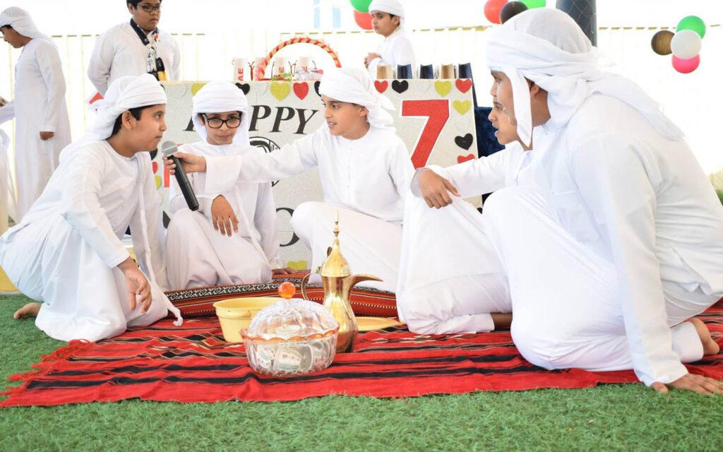 UAE National day as extracurricular celebrations at Al Resalah American International School